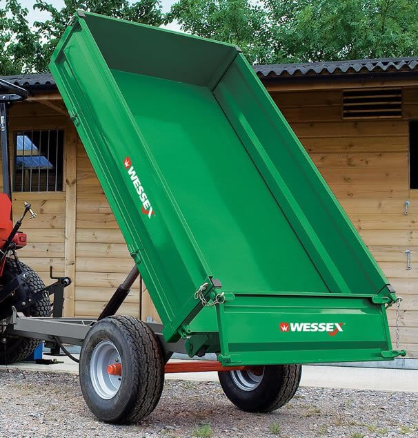 WESSEX Country 1.25 ton Hydraulic tipping Trailer